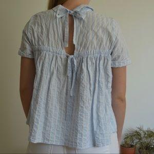 Striped Tie Back Shirt